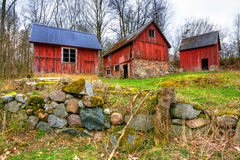 Swedish abandoned farm Stock Images
