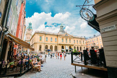 Swedish Academy and Nobel Museum on Stortorget Stock Photo