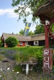 Swedish agritourism. Swedish motel in old style stock image