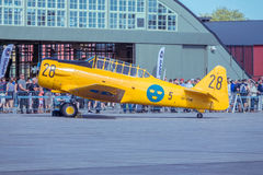 Swedish airforce 1940s training aircraft Stock Image