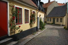 Swedish alleyway Stock Photos