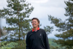 Swedish Anders Forsbrand at the SSE Wales Senior Open 2015. Anders Forsbrand on the first day at the SSE Senior Open at the Celtic Manor Resort Hotel, Wales Royalty Free Stock Photography