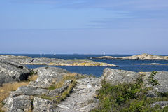 Swedish archipelago coast Stock Images