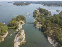Swedish archipelago islands stock image
