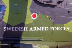 Swedish Armed Forces logo on aircraft Royalty Free Stock Images
