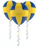 Swedish balloons - Flag Stock Image
