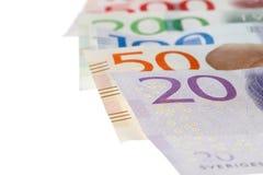 Swedish banknotes on white Stock Image