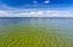 Swedish beach close to the Oland link bridge Royalty Free Stock Image