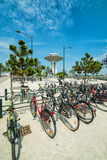Swedish bicycle parking Stock Images