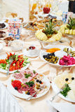 Swedish buffet style breackfast Stock Photo