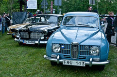 Swedish cars at a car show Royalty Free Stock Image