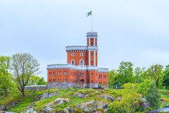 Swedish castle on top of a hill. (Horizontal View Royalty Free Stock Photos