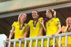 Swedish champions Stock Photo