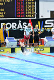 Swedish championship in swimming Stock Photo