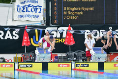 Swedish championship in swimming Stock Image