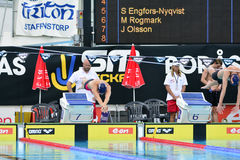 Swedish championship in swimming Royalty Free Stock Image