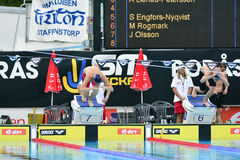 Swedish championship in swimming Stock Photography