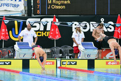 Swedish championship in swimming Royalty Free Stock Images