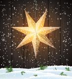 Swedish Christmas star, seasonal shining window decoration royalty free stock photos