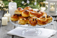 Swedish christmas. Traditional swedish buns Royalty Free Stock Images