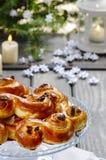 Swedish christmas. Traditional swedish buns Stock Images