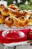Swedish christmas. Traditional swedish buns Royalty Free Stock Photography