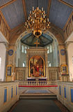 Swedish church altar. And decoration Royalty Free Stock Photo