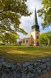 Swedish church in autumn season Stock Image