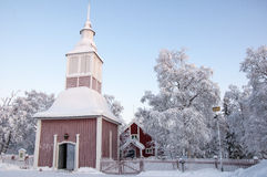 Swedish church in Lapland Royalty Free Stock Photos