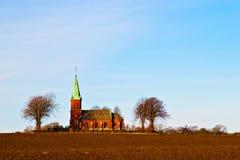 Swedish Church. View of a beautiful typical Scandinavian church stock photography