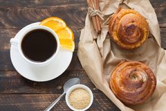 Free Swedish Cinnamon Buns And Coffee Stock Images - 139097334