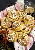 Swedish cinnamon rolls Stock Images
