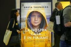 Swedish climate activist Greta Thunberg publish in Italy the book translated as `Our home is on flame`