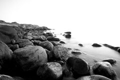 Swedish coast. Rocks and water on swedish coastline Stock Photos