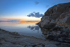 Swedish coast 2. Swedish coast in summer. The sun has just set Royalty Free Stock Image