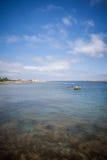 Swedish coast. Ramsvik, a campers dream in western sweden stock image