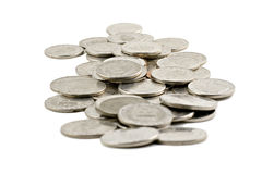 Swedish coins isolated on white Stock Images