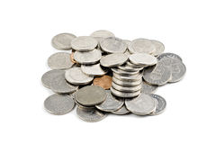 Swedish coins isolated on white Stock Photography