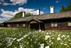 Swedish cottage. Historic house in Skansen museum, Stockholm Stock Image