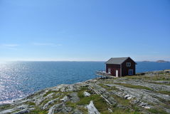Swedish Cottage. On an island. The island belongs to the archipelago of Gothenburg, which belongs to Sweden's west coast stock image