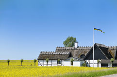 Swedish countryhouse. Countryhouse from Skaane Sweden on a beautiful day in June Stock Photography