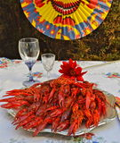 Swedish Crayfish party in august Stock Images
