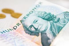 Swedish crown currency money. Paper Royalty Free Stock Image