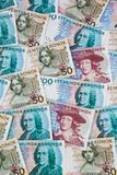 Swedish crowns. Swedish currency. Swedish krona, the currency of Sweden. Several bills Royalty Free Stock Photography