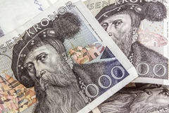 Swedish currency -1000 Kronor Royalty Free Stock Photos