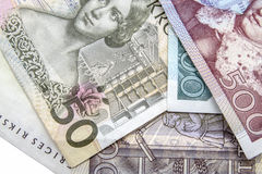 Swedish Currency. Closeup on white baclground Royalty Free Stock Photo