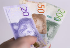 Swedish Currency Close up Stock Photography
