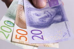 Swedish Currency Close up Royalty Free Stock Photography