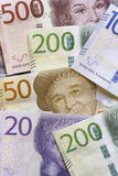 Swedish Currency Close Up Stock Photos