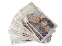 Swedish currency  - 1000 Kronor Royalty Free Stock Photos